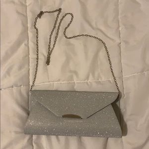 Sparkly Silver Evening Clutch / Bag